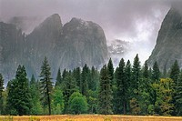 Fall rain clouds over Yosemite Valley, Yosemite National Park, CALIFORNIA