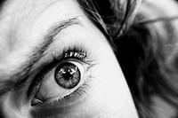 Fotografia de un ojo de mujer en Serra, Valencia.
