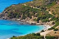 Italy, Sardinia, coast line of Punta Molentis,Villasimius, Cagliari