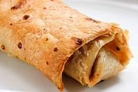 Burrito. Mexican dish.