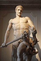Marble Statue of Hercules restored as killing the Hydra of Lerna, Capitoline Museum, Musei Capitolini, Rome, Italy