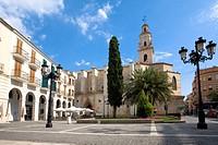 St Mary´s collegiate church, Gandia. Valencia province, Comunidad Valenciana, Spain