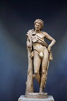 Resting Satyr statue, Vatican Museums, Rome, Italy