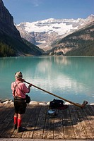 Alphorn, Lake Louise, Banff National Park, Alberta, Canada
