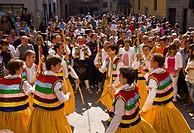 ´Danza de los Zancos´ folk dance, Anguiano. La Rioja, Spain