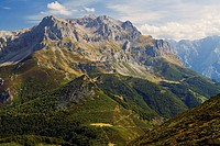 Picos de Europa desde Peña Blanca. Cordillera Cantábrica. Provincia de León. Spain.