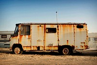 Old mobile home. Fuerteventura, Canary Islands, Spain