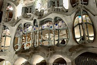 Batllo House (1904-06 by Gaudí), Barcelona. Catalonia, Spain
