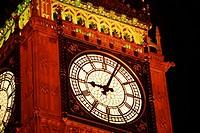 Lighted Big Ben London, England