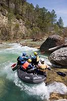 Rafting en el río Tajo Parque Natural del Alto Tajo, Castilla la Mancha, Spain
