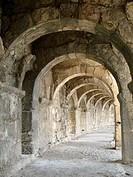 Aspendos, Nr. Antalya, TurkeyUpper level of the great Roman Theater