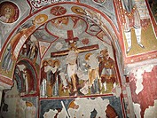 Christian frescoes in the Elmali Kilise (Church of the Apple).A church excavated into rockGöreme Open-air Museum. Göreme, Cappadocia. Turkey.UNESCO Wo...