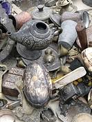 used/antique artifacts on a tableCappadoccia. Göreme, TurkeyUNESCO World Heriatge Site