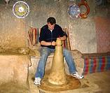 throwing a clay pot Cappadocia. Göreme, TurkeyUNESCO World Heriatge Site