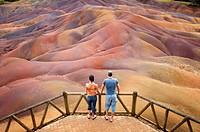 Chamarel coloured earth, Mauritius