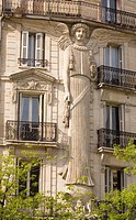 Decorated building Paris, France,