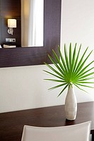 Detail of decoration  Contemporary hotel room  Catalonia  Spain