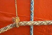 Ropes, ria of Zumaya, Guipuzcoa (Gipuzkoa), Basque Country, Spain