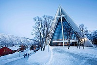 Norway, Tromso The arctic cathedral was built in 1965