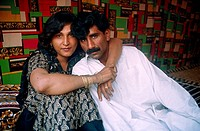 ´Hijra´ with her lover. Punjab, Pakistan