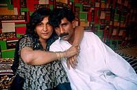 ´Hijra´ with her lover. Punjab, Pakistan