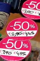 Discounts. Barcelona, Catalonia, Spain