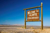 USA, Colorado New Mexico Border