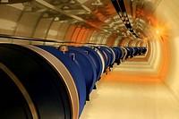 LHC model, MNACTEC (Museu de la Ciencia i de la Tecnica de Catalunya) museum. Terrassa, Barcelona province, Catalonia, Spain