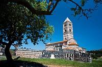 Basilica della Santissima Trinità di Saccargia (Basilica of the Holy Trinity of Saccargia), Codrongianos, Sassari Province, Sardinia, Sardegna, Italy,...