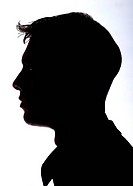 Silhouette, man, side_portrait, people, men´s_head, head, face, profile, side_view, outlines, anonymity, unrecognized, mysteriously, silhouette,