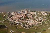 Fortifications of Saint-Martin town by Vauban, Île de Ré, Atlantic Coast. Charente-Maritime, Poitou-Charentes, France