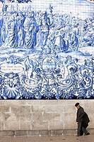 ´Azulejos´ mural, Carmo Church, Porto, Portugal