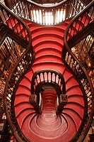 Staircase in Lello e Irmão bookstore, Porto, Portugal