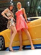 Models posing in front a Brabus prototype. 77 International Geneva Motor Show (march, 2007)