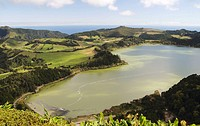 Lake Furnas on Sao Miguel island in The Azores