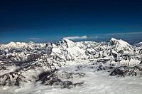 Mount Everest range- the Himalayas