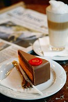 Coffee and cake at the famous Cafe Central, Vienna, Austria