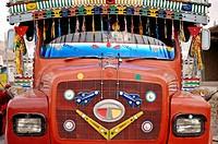 Decorated Indian truck Ladakh, India