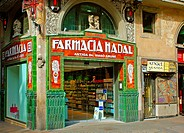 Old pharmacy in Las Ramblas Barcelona Spain