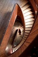 Stairway at Atlantic Mills, Olneyville, Rhode Island, USA