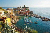 Vernazza from above, Cinque Terre, Italy