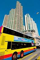 asia, china, hong kong, housing tower blocks Kowloon 2008