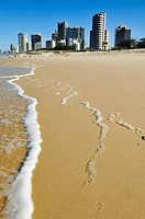 Beach at Surfers Paradise, Gold Coast, Queensland, Australia