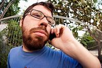Man talking on a cellular