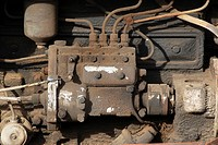 Old Spanish EBRO tractor engine.