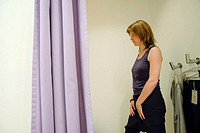 woman in a fitting room