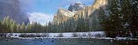 Clearing Storm over El Capitan, Merced River, Cathedral Rocks,Yosemite National Park, Mariposa County, California, U.S.A.