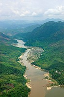 The Mekong from above, Luang Prabang region, Laos
