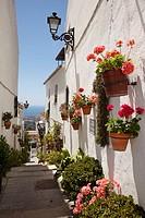 Street, Mijas, Pueblos Blancos (´white towns´), Costa del Sol, Malaga province, Andalusia, Spain