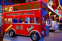 London bus children´s amusement ride at the seaside
